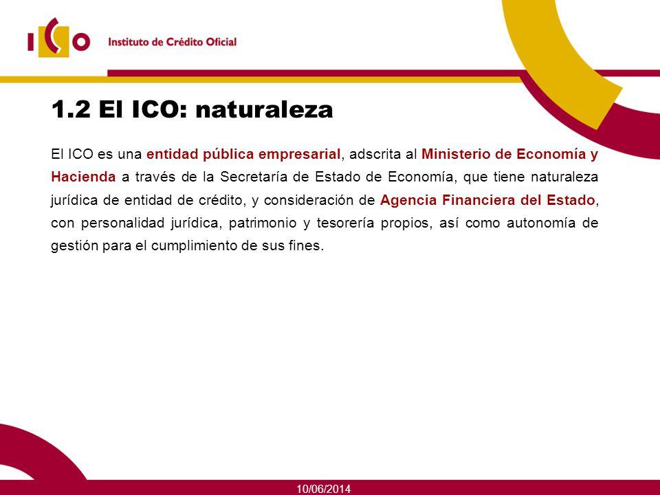 1.2 El ICO: naturaleza
