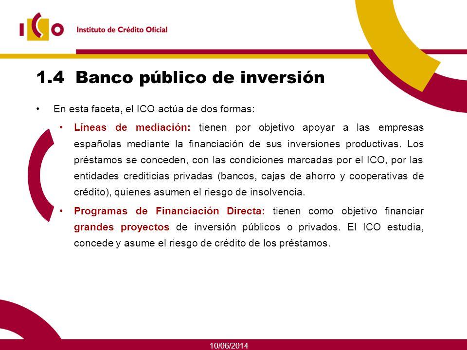 1.4 Banco público de inversión