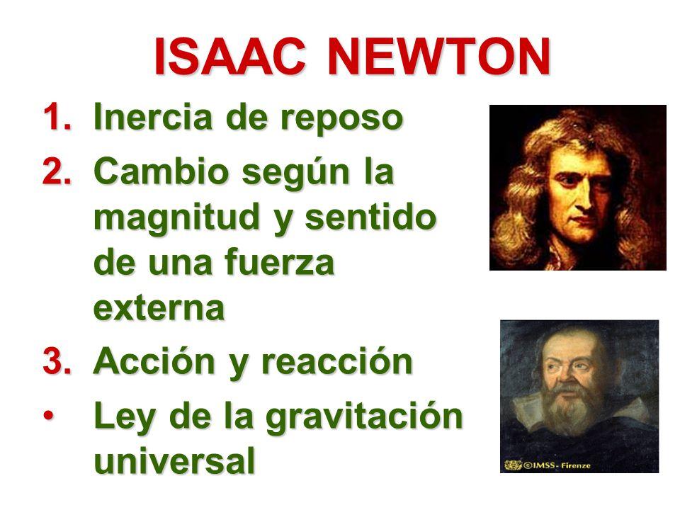 ISAAC NEWTON Inercia de reposo
