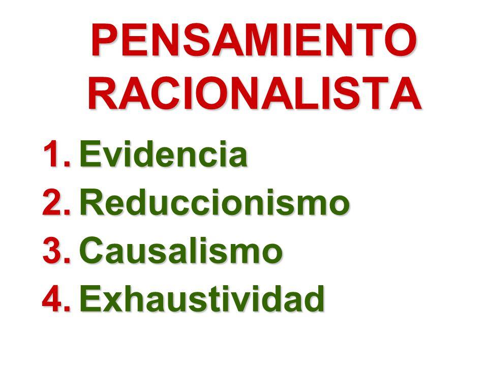 PENSAMIENTO RACIONALISTA