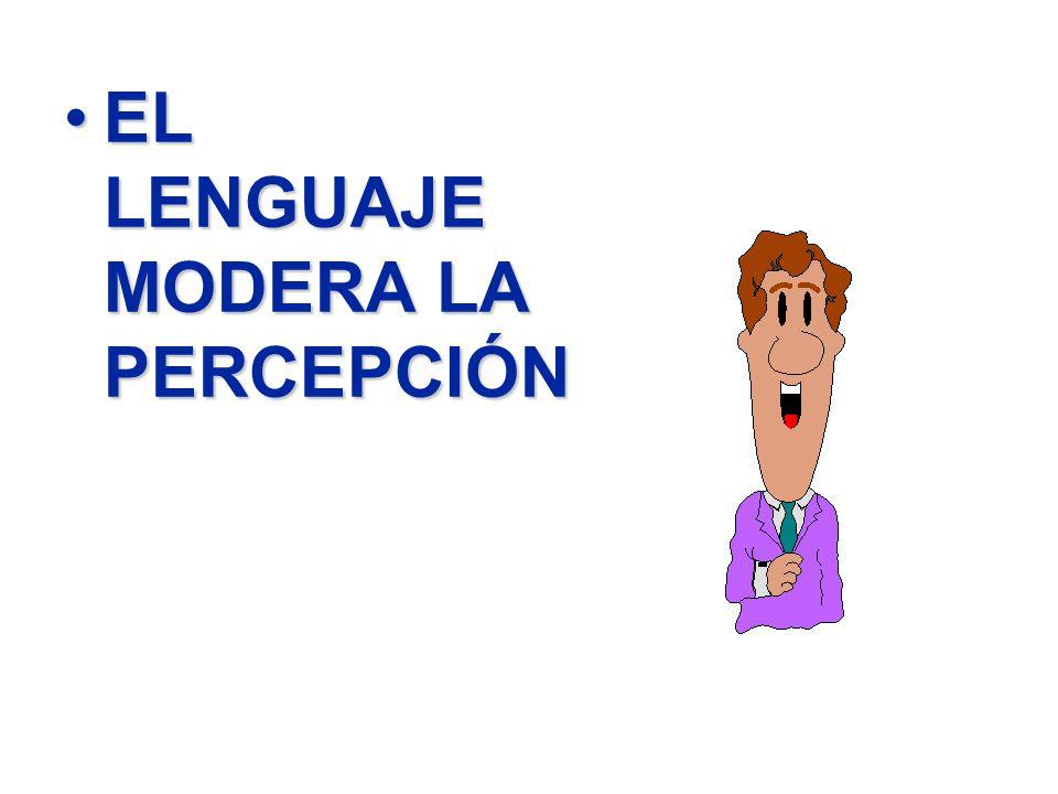 EL LENGUAJE MODERA LA PERCEPCIÓN