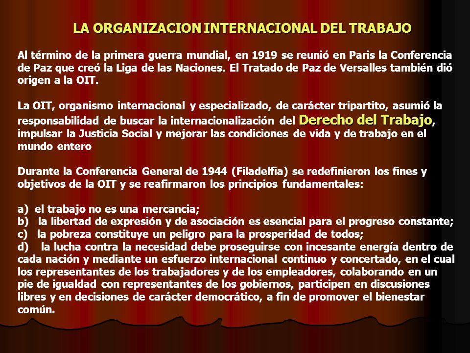 LA ORGANIZACION INTERNACIONAL DEL TRABAJO