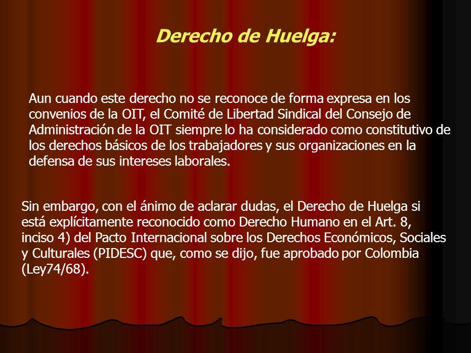 Derecho de Huelga: