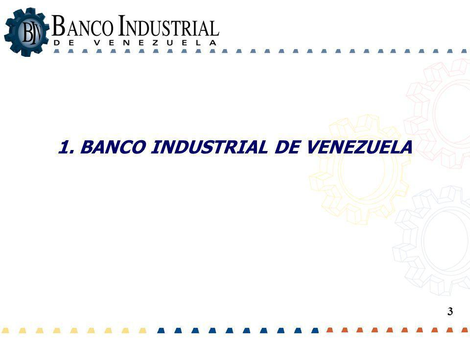 1. BANCO INDUSTRIAL DE VENEZUELA
