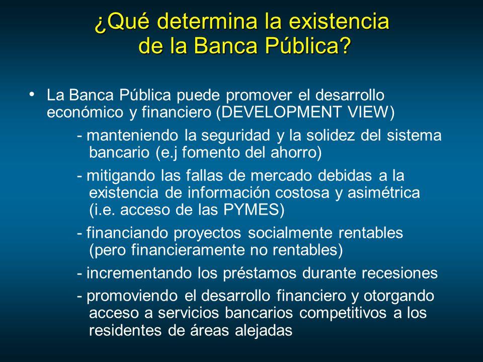 ¿Qué determina la existencia de la Banca Pública