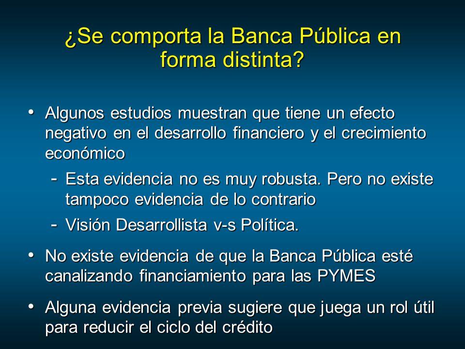¿Se comporta la Banca Pública en forma distinta