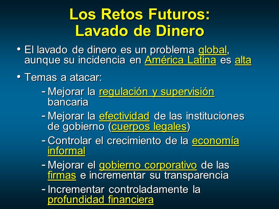 Los Retos Futuros: Lavado de Dinero