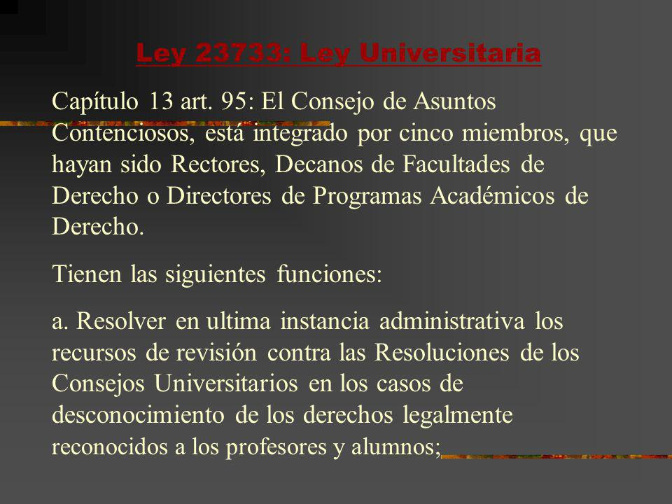 Ley 23733: Ley Universitaria