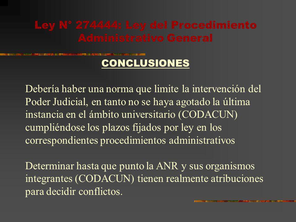 Ley N° 274444: Ley del Procedimiento Administrativo General