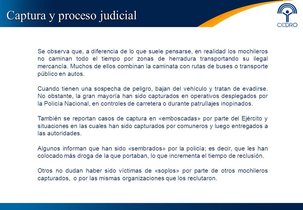 Captura y proceso judicial