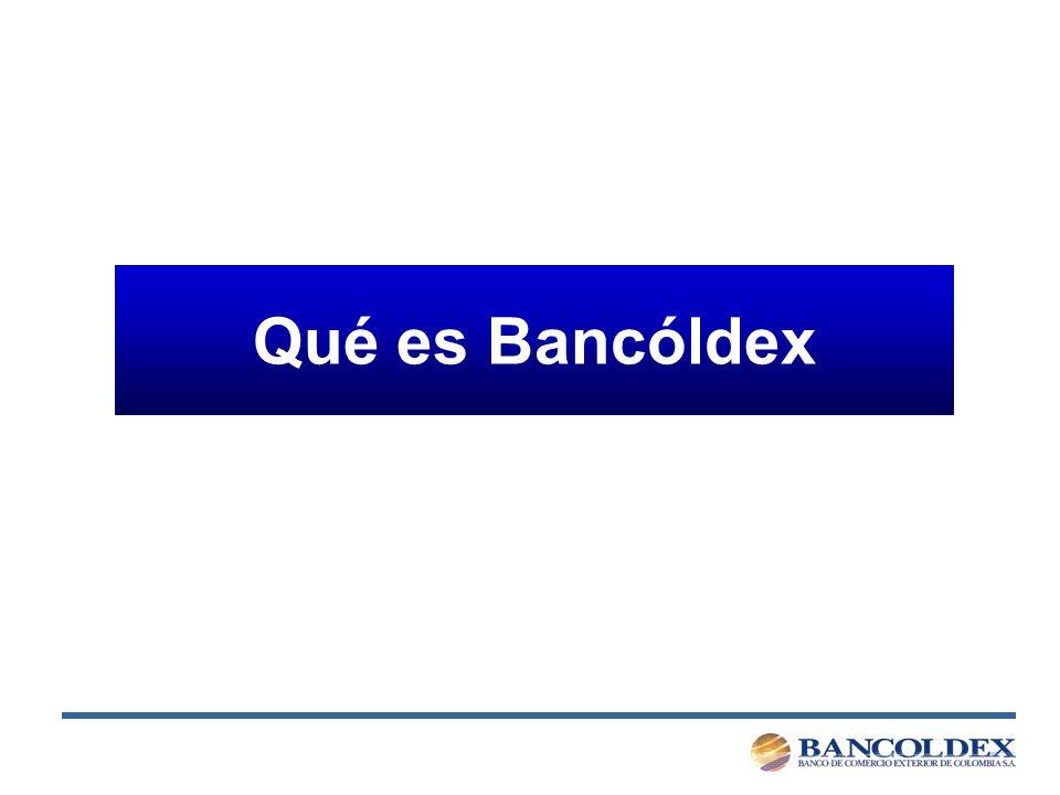Qué es Bancóldex