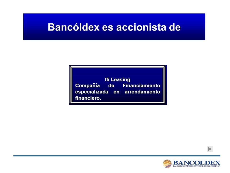 Bancóldex es accionista de