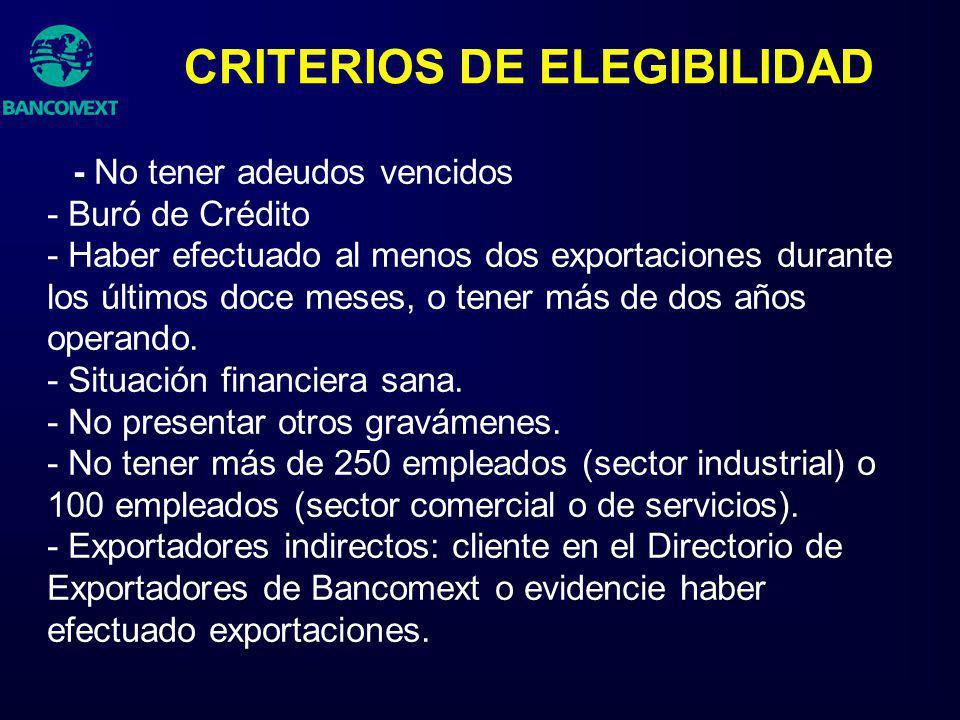 CRITERIOS DE ELEGIBILIDAD