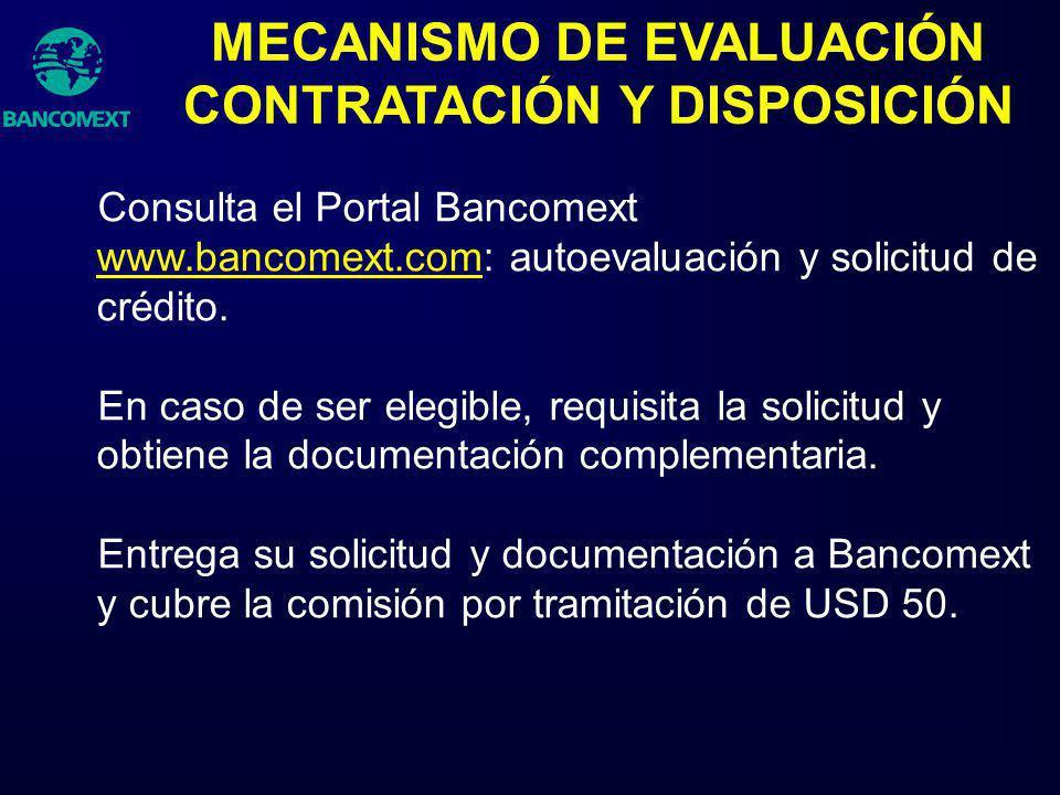 MECANISMO DE EVALUACIÓN CONTRATACIÓN Y DISPOSICIÓN
