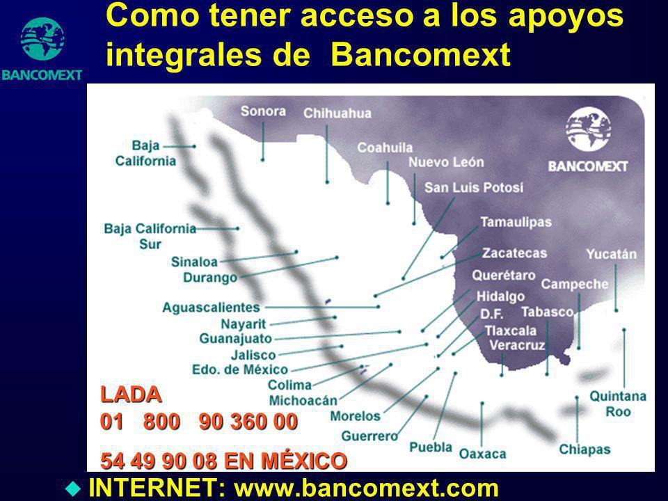 Como tener acceso a los apoyos integrales de Bancomext
