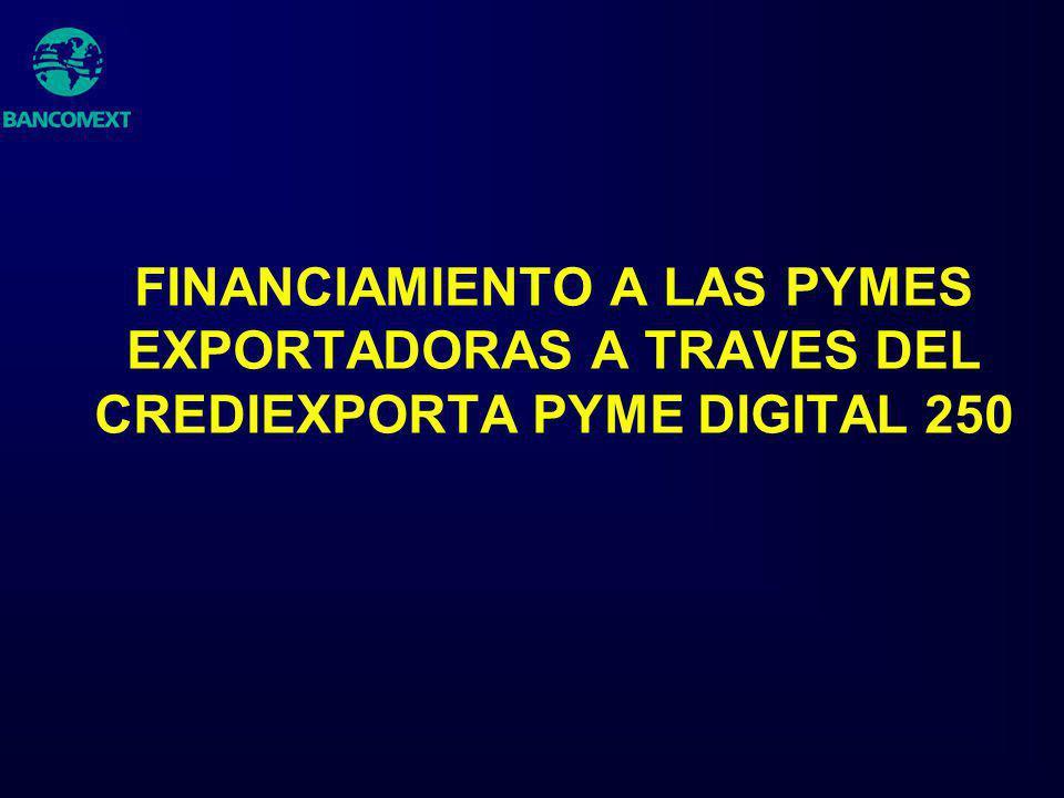 FINANCIAMIENTO A LAS PYMES EXPORTADORAS A TRAVES DEL CREDIEXPORTA PYME DIGITAL 250