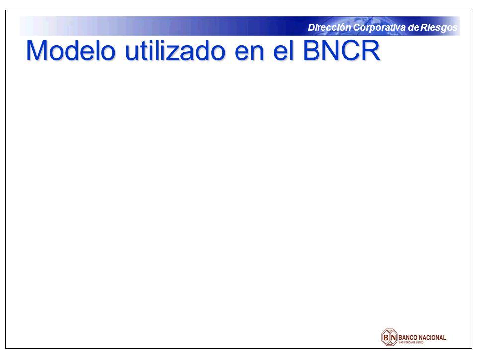 Modelo utilizado en el BNCR