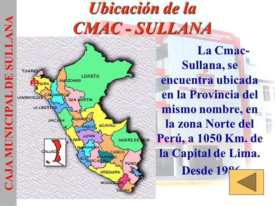 Ubicación de la CMAC - SULLANA