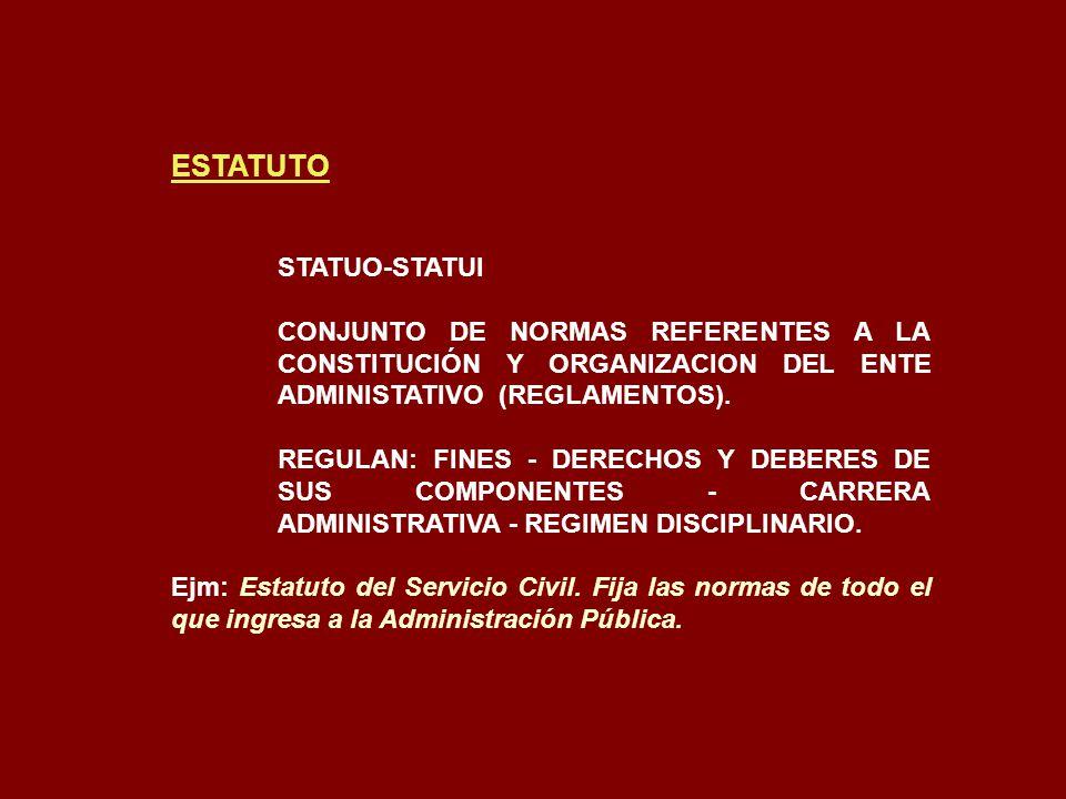 ESTATUTO STATUO-STATUI