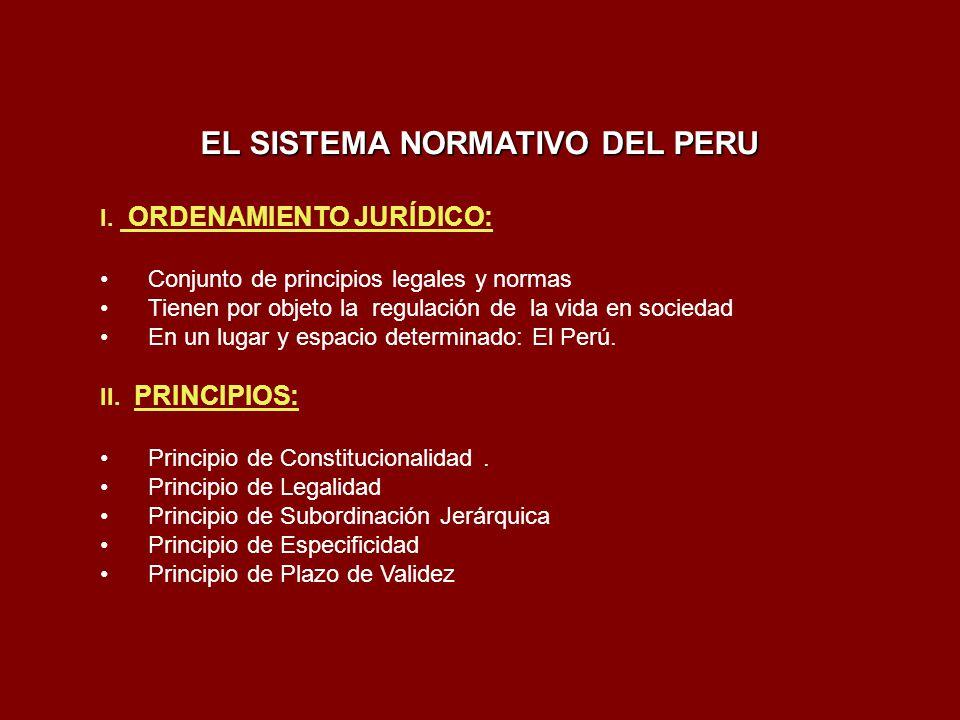 EL SISTEMA NORMATIVO DEL PERU