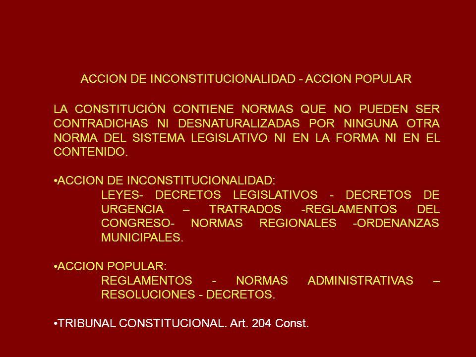 ACCION DE INCONSTITUCIONALIDAD - ACCION POPULAR