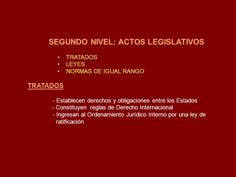 SEGUNDO NIVEL: ACTOS LEGISLATIVOS