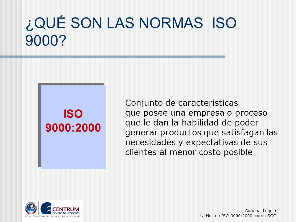 ¿QUÉ SON LAS NORMAS ISO 9000 ISO 9000:2000