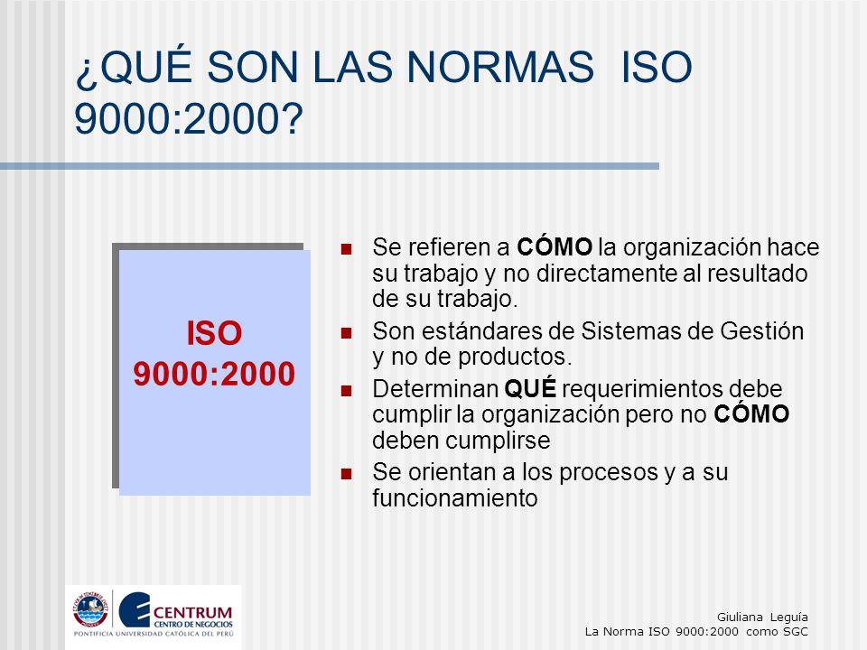 ¿QUÉ SON LAS NORMAS ISO 9000:2000