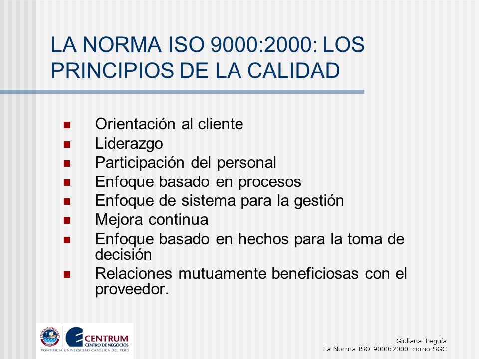 LA NORMA ISO 9000:2000: LOS PRINCIPIOS DE LA CALIDAD
