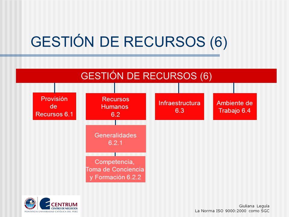 GESTIÓN DE RECURSOS (6) GESTIÓN DE RECURSOS (6) Provisión de