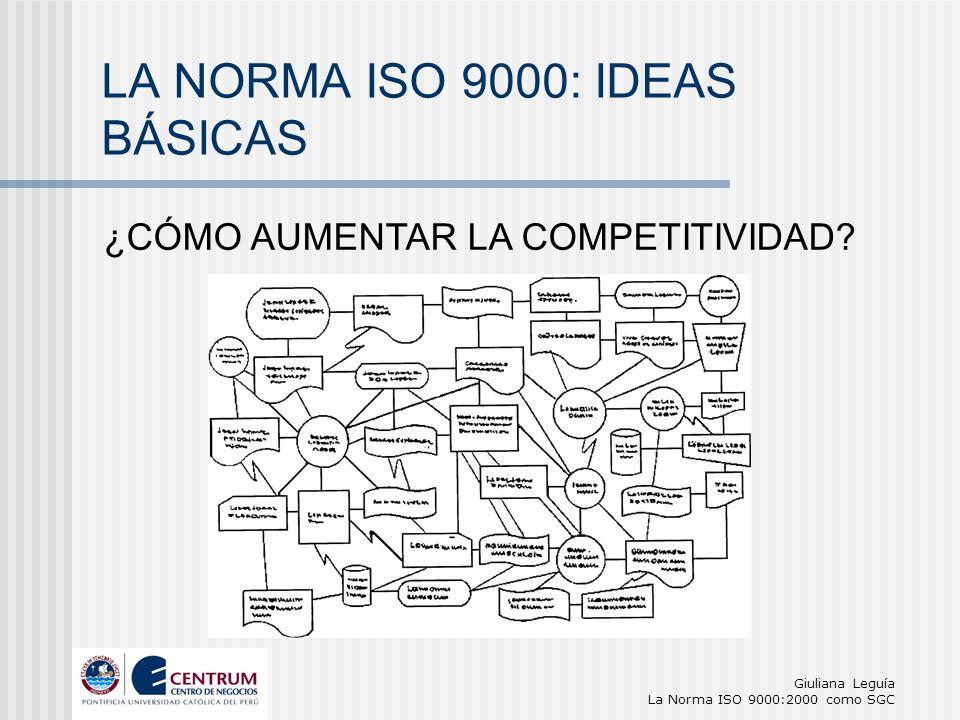 LA NORMA ISO 9000: IDEAS BÁSICAS