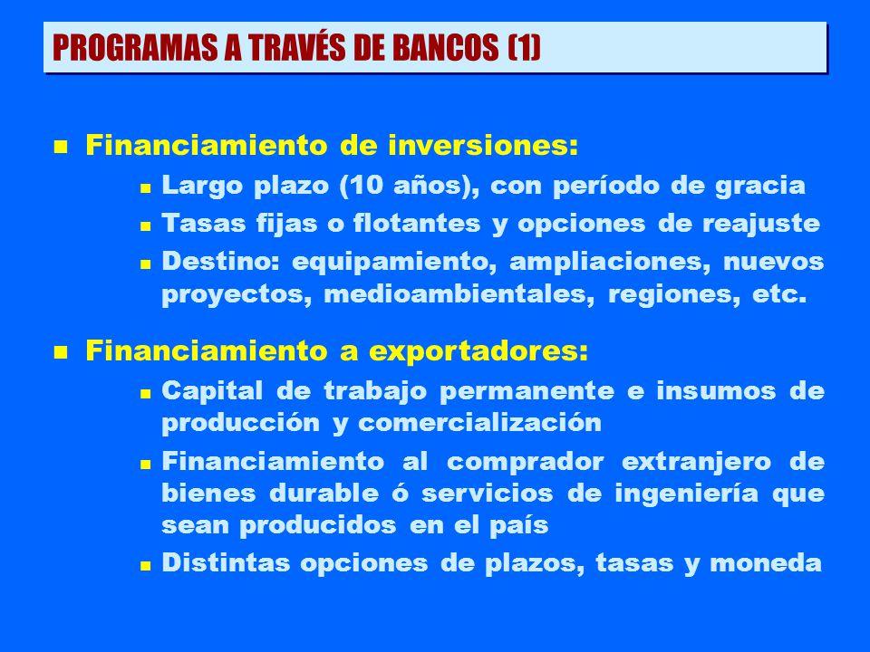 PROGRAMAS A TRAVÉS DE BANCOS (1)