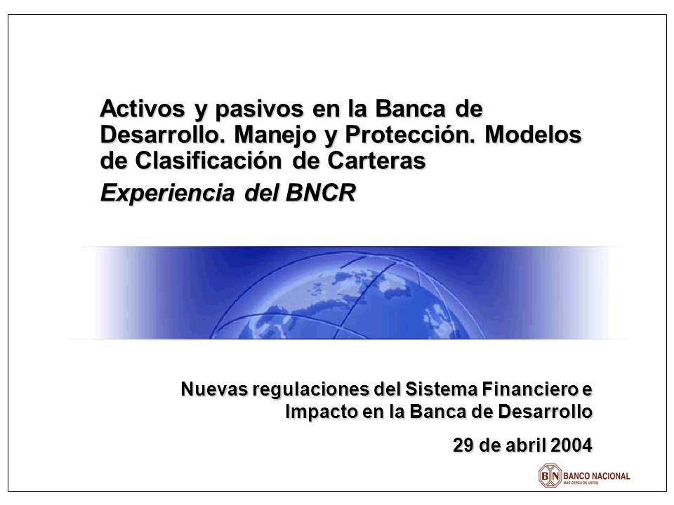 Activos y pasivos en la Banca de Desarrollo. Manejo y Protección