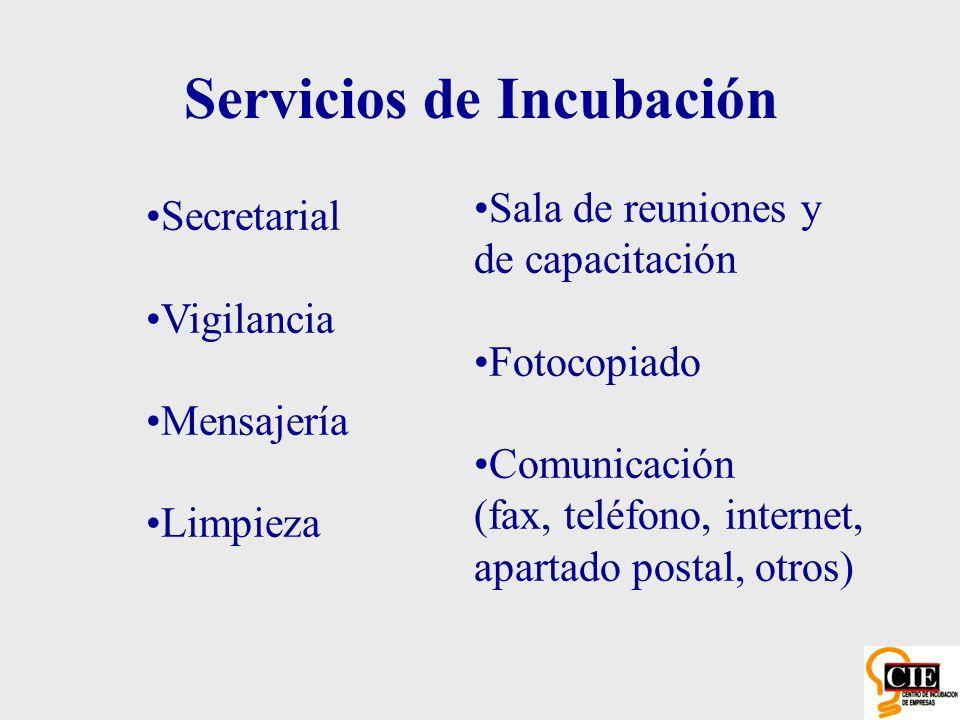 Servicios de Incubación