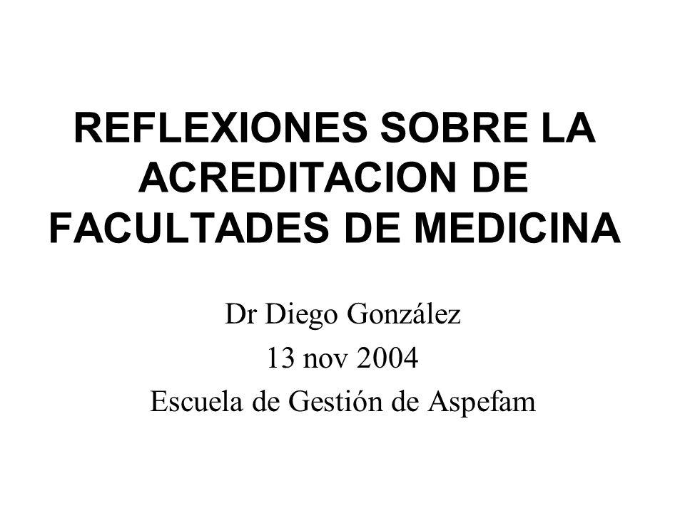 REFLEXIONES SOBRE LA ACREDITACION DE FACULTADES DE MEDICINA
