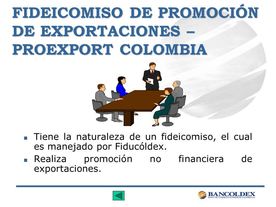 FIDEICOMISO DE PROMOCIÓN DE EXPORTACIONES – PROEXPORT COLOMBIA