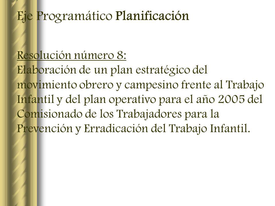 Eje Programático Planificación
