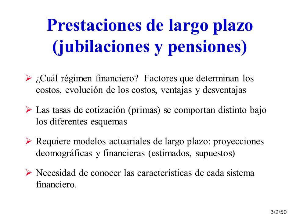 Prestaciones de largo plazo (jubilaciones y pensiones)