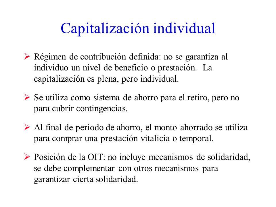 Capitalización individual