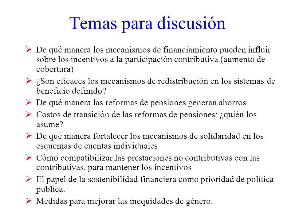 Temas para discusión