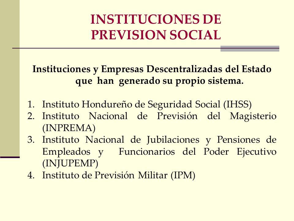 INSTITUCIONES DE PREVISION SOCIAL