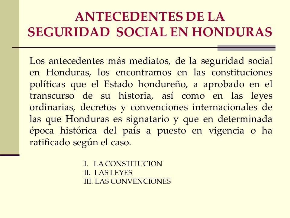 SEGURIDAD SOCIAL EN HONDURAS