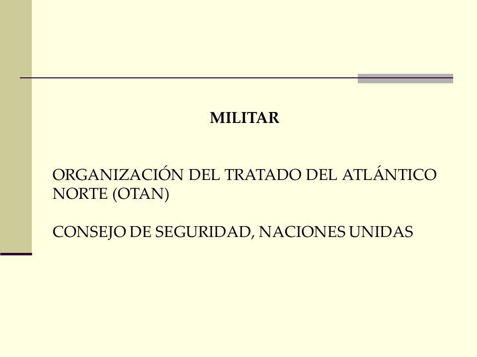 MILITAR ORGANIZACIÓN DEL TRATADO DEL ATLÁNTICO NORTE (OTAN) CONSEJO DE SEGURIDAD, NACIONES UNIDAS
