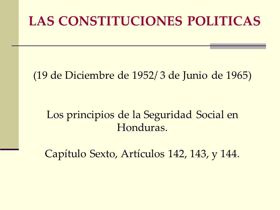 LAS CONSTITUCIONES POLITICAS