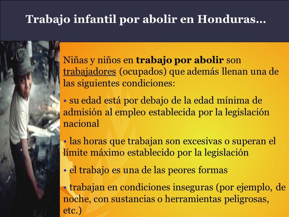 Trabajo infantil por abolir en Honduras…
