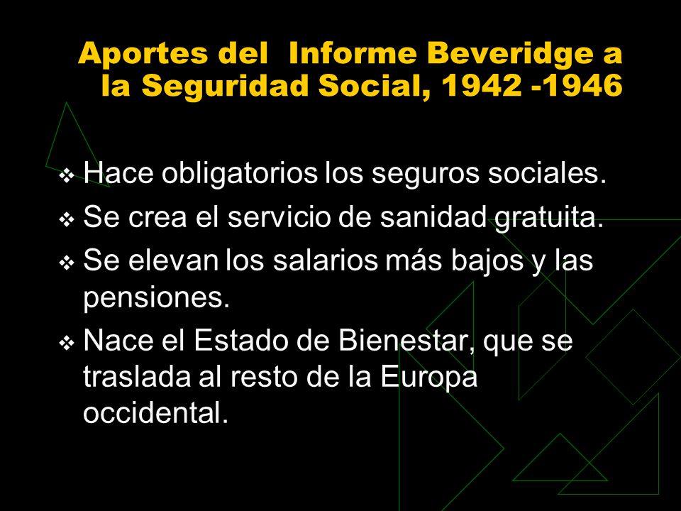 Aportes del Informe Beveridge a la Seguridad Social, 1942 -1946