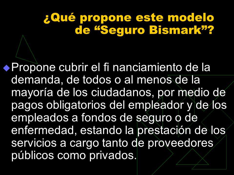 ¿Qué propone este modelo de Seguro Bismark