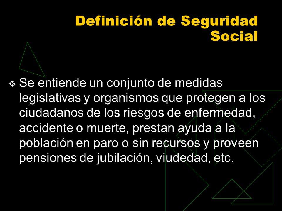 Definición de Seguridad Social