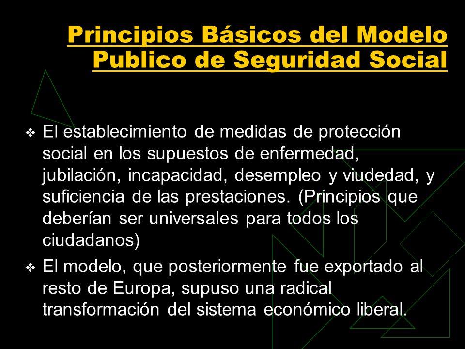 Principios Básicos del Modelo Publico de Seguridad Social