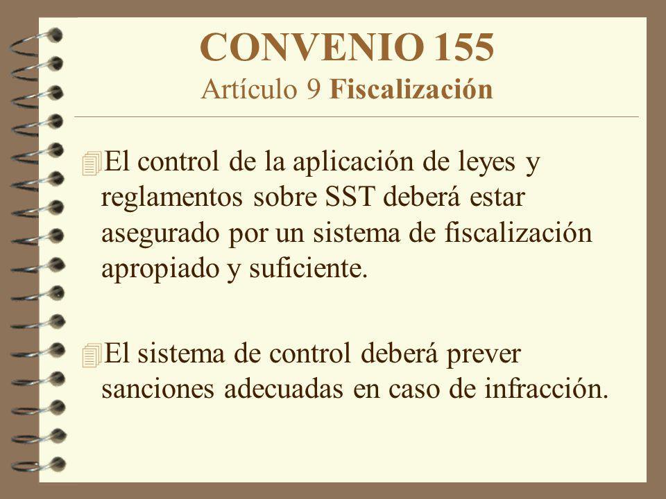 CONVENIO 155 Artículo 9 Fiscalización